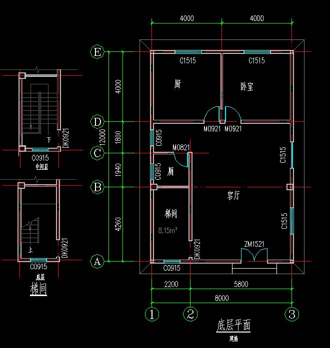 12x8米设计图