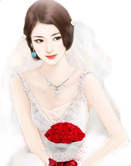 橙光女生穿婚纱立绘