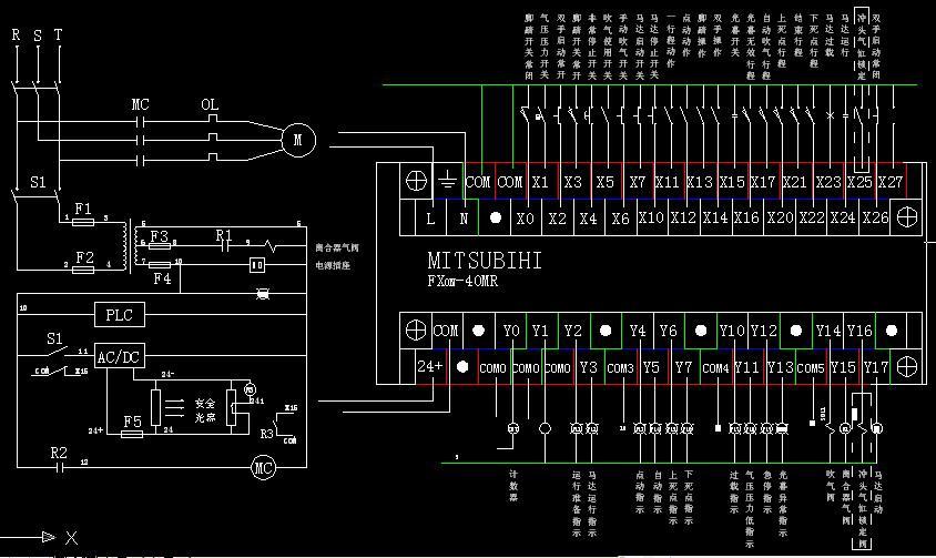 谁能发一个三菱plc的外部接线图给我?