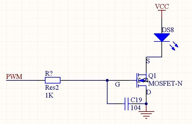 请问如果按照以下的电路连接,可否帮我围绕场效应管分析一下下面的