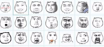 我有电脑eif格式的,拿去参考吧 猥琐猫人脸qq表情包 http://www.图片