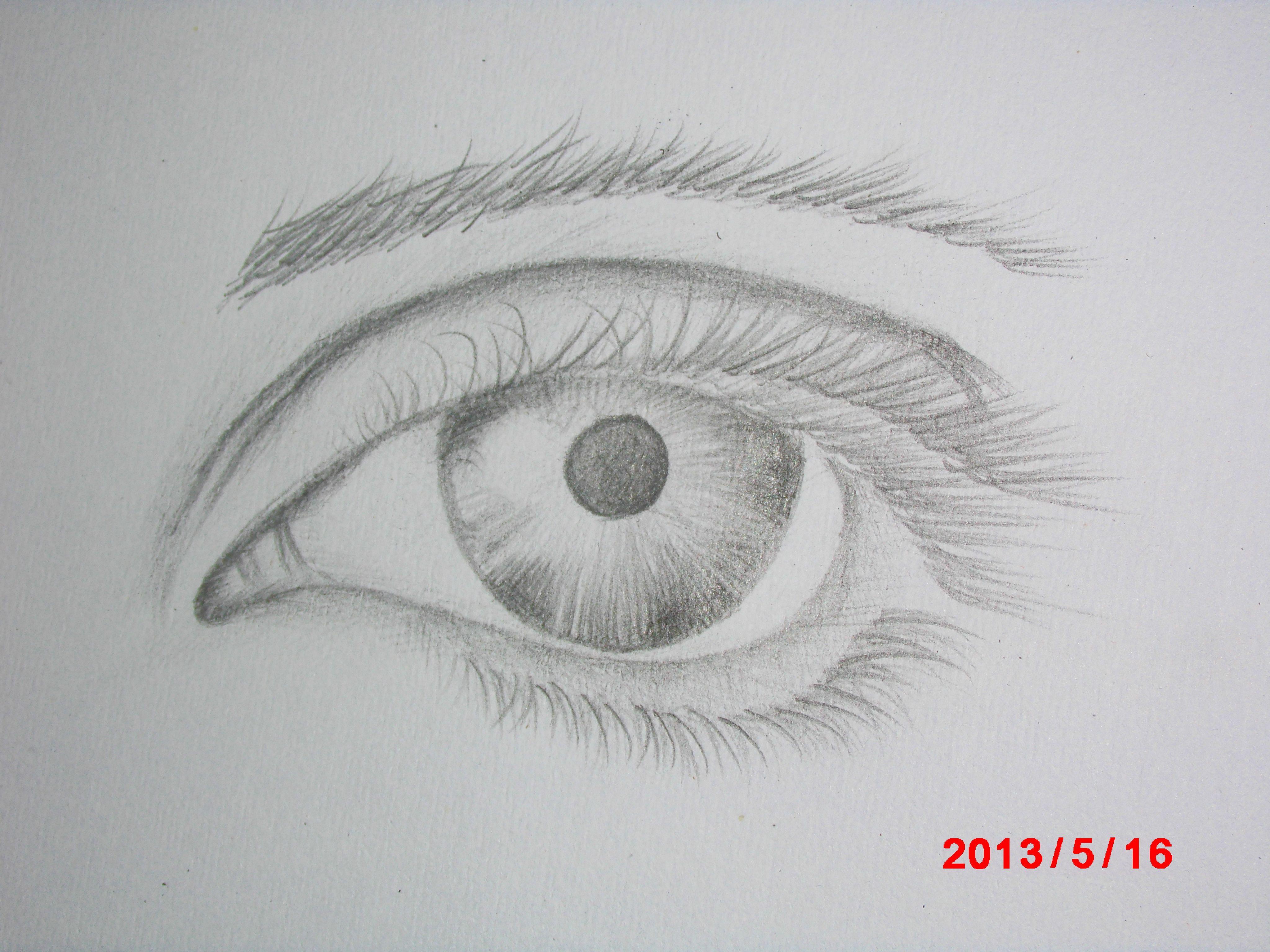 大姐姐,哥哥们我喜欢画漫画 但是眼睛和头发太难画了图片