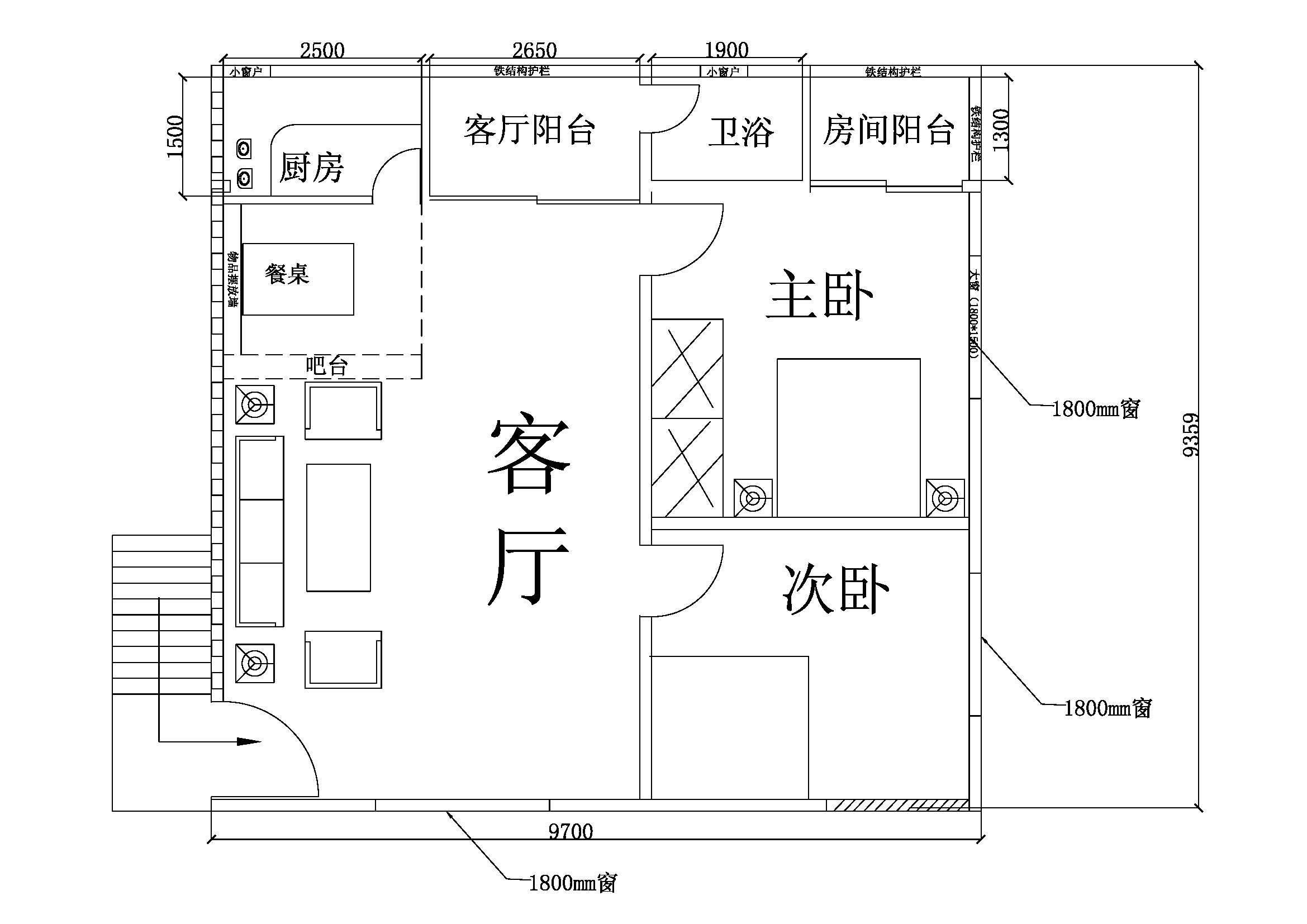 房间布局设计,希望得到大师的帮忙.谢谢图片