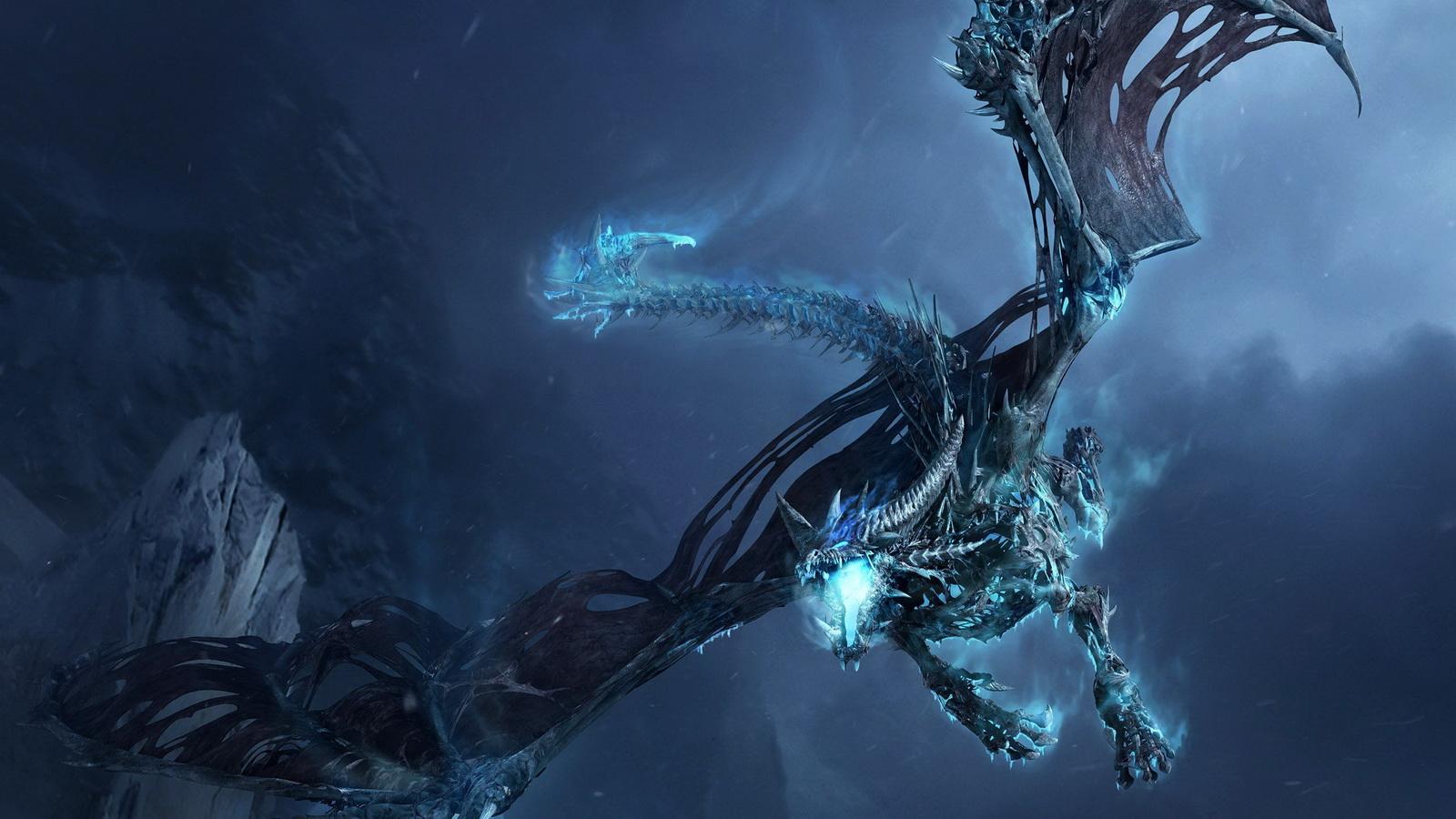 求大神发给我一张魔兽世界的冰霜巨龙的桌面壁纸 1600