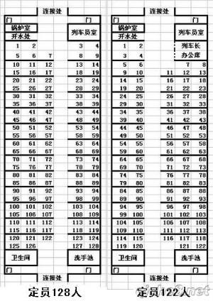 k356次列车座位怎么排的?我买了三张车票分别是 79 80图片