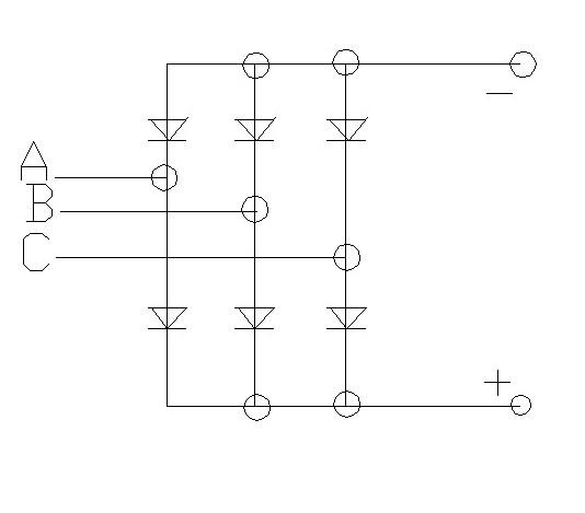 画出三相桥式全波整流电路图