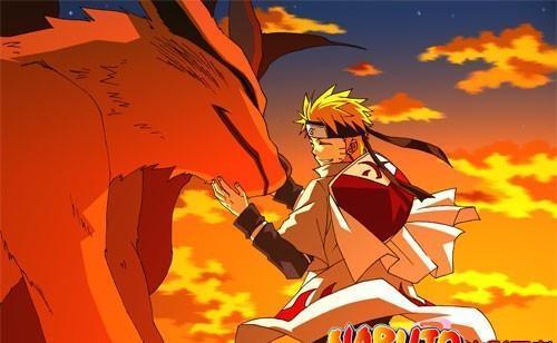 火影忍者鸣人和九尾联手打另外几只尾兽并且尾兽弹对攻是动漫哪一集?
