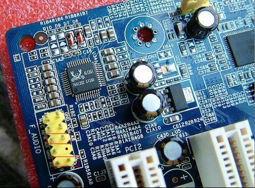 微星主板前置音频如何接线