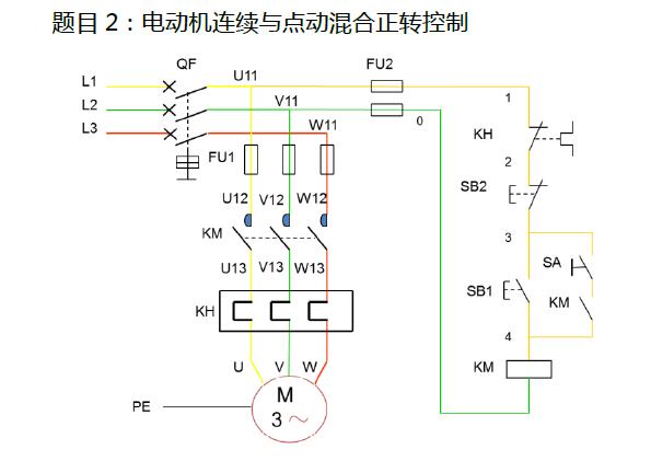 请问电动机正反转控制接线图是什么,如下 图所示,谢谢