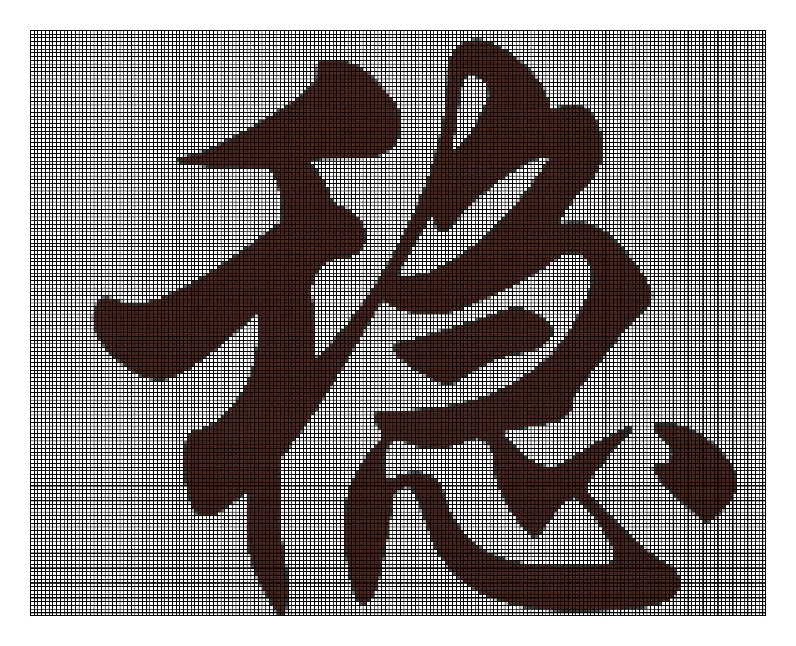 急求 把稳字转换成十字绣图案图片