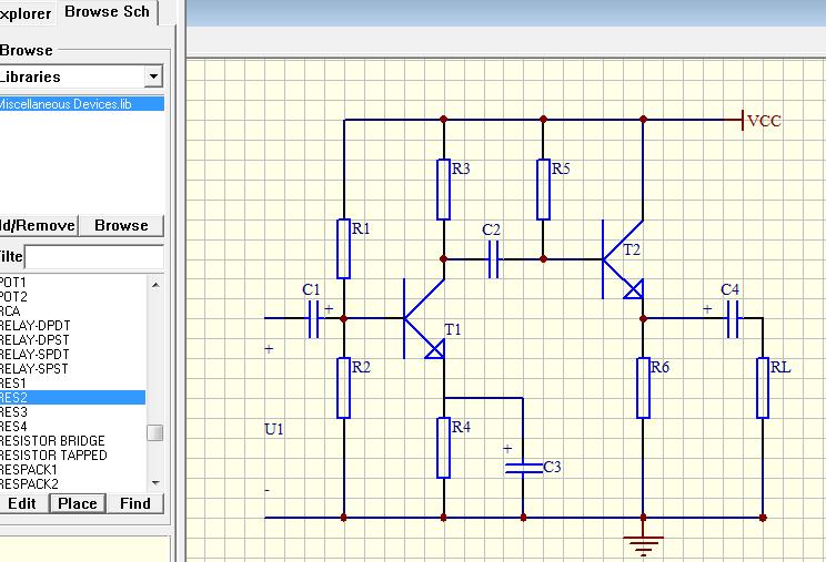 protel 99 se 求一个简单点电路放大原理图或者任何简单原路图都可以