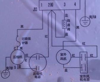 海爾變頻空調kfr/35w/0123室外機線路板接線圖