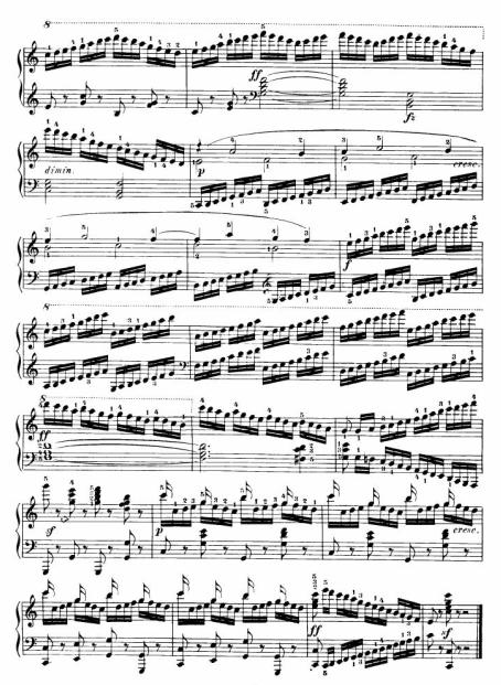 谁有车尔尼299第5条的钢琴谱,是第5条的,急求
