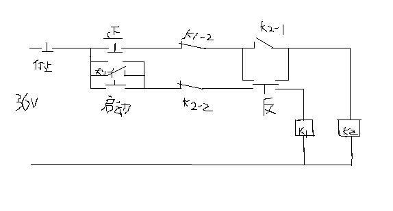 电路图画的只是电机正反转控制电路,接触器主电路没画