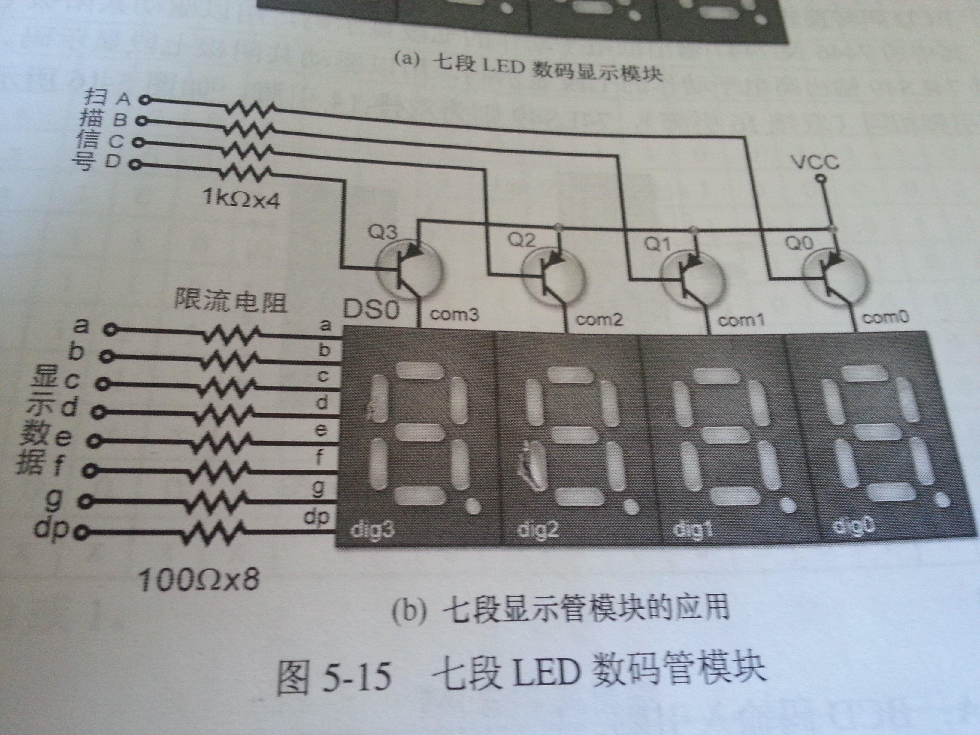 共阴数码管驱动电路