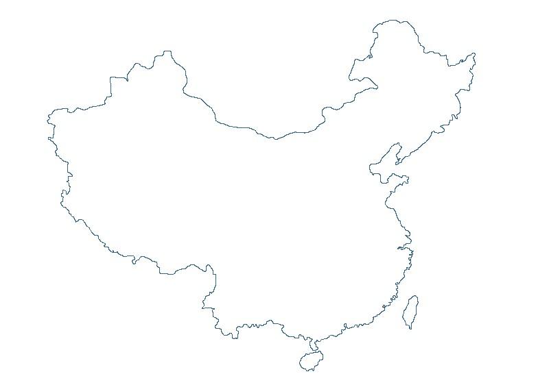 手绘中国地形图