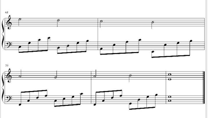 卡农钢琴谱(简单版)