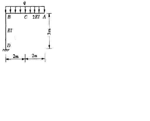 结构力学题目:用力法计算图示刚架,并画弯矩图,ei 为常量.