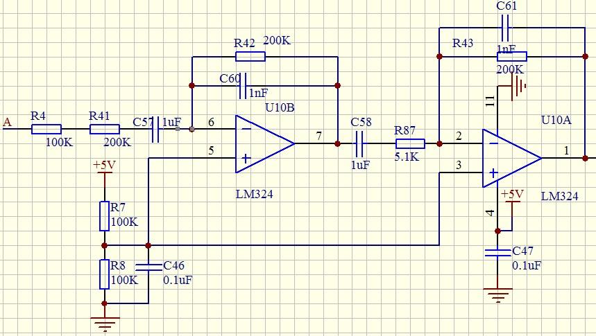 有关lm324运算放大器的电路有些不懂