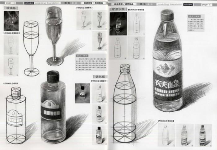 坛瓶的结构素描画法