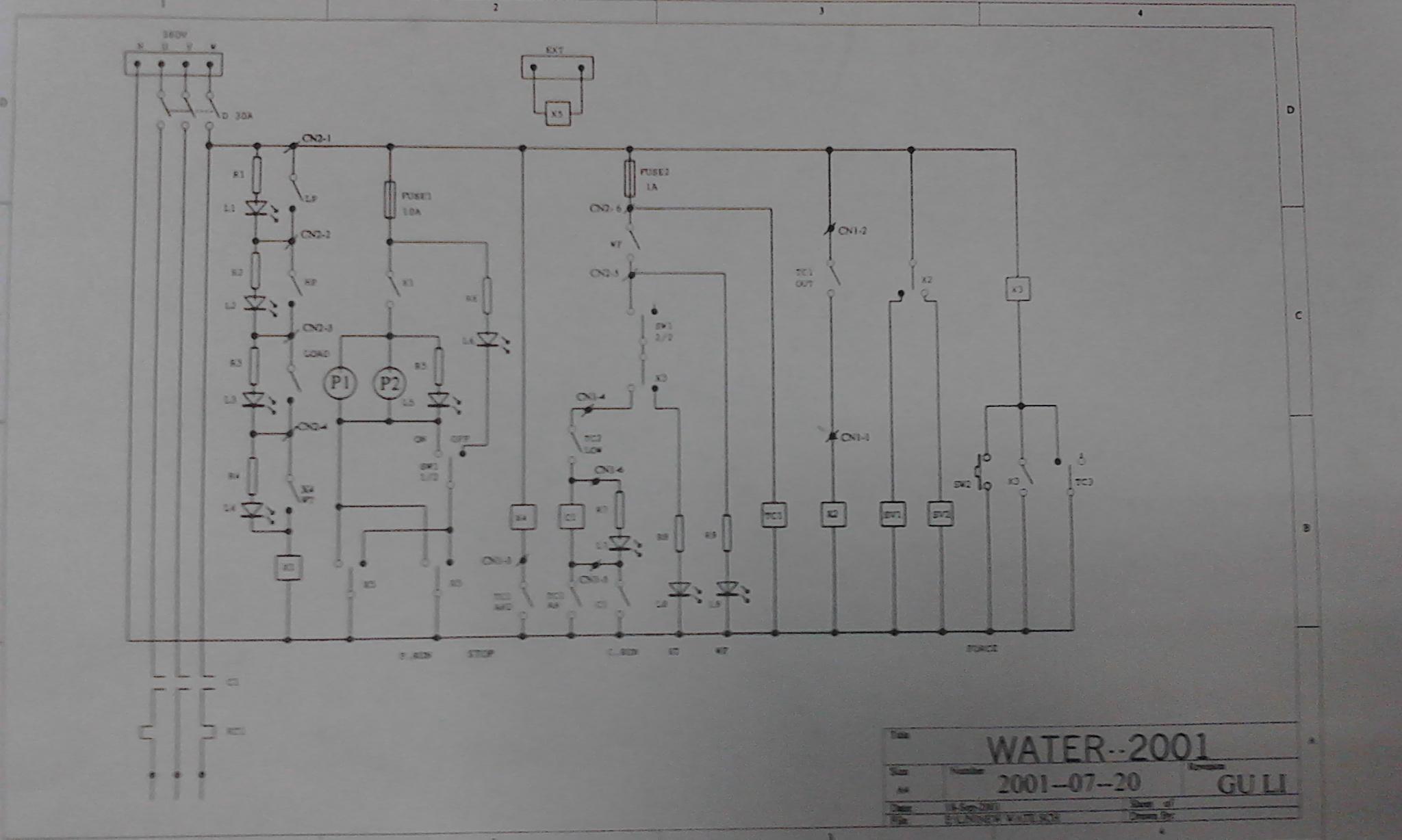 求电工达人对这张电路图作出详解,急用,谢谢.