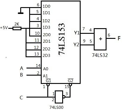 数字逻辑实验 中规模集成组合逻辑电路的应用 求逻辑电路图及逻辑