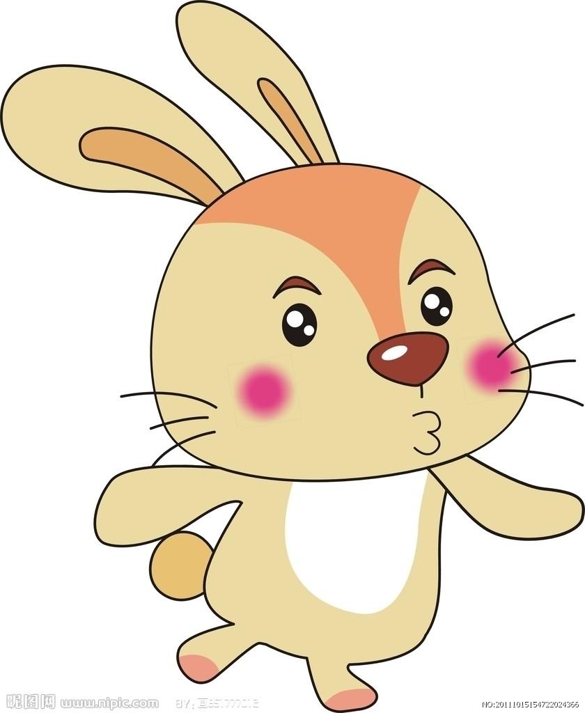 生肖兔子矢量图