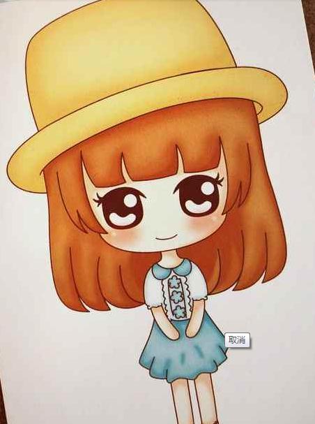 我有一个挺相似的是  查克斯家 韩国可爱女孩妞妞 百变鬼小妞 明信片