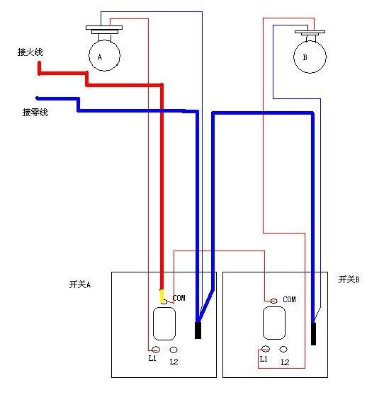 这是三个接线柱的双开?包括线路的具体接法都说下.