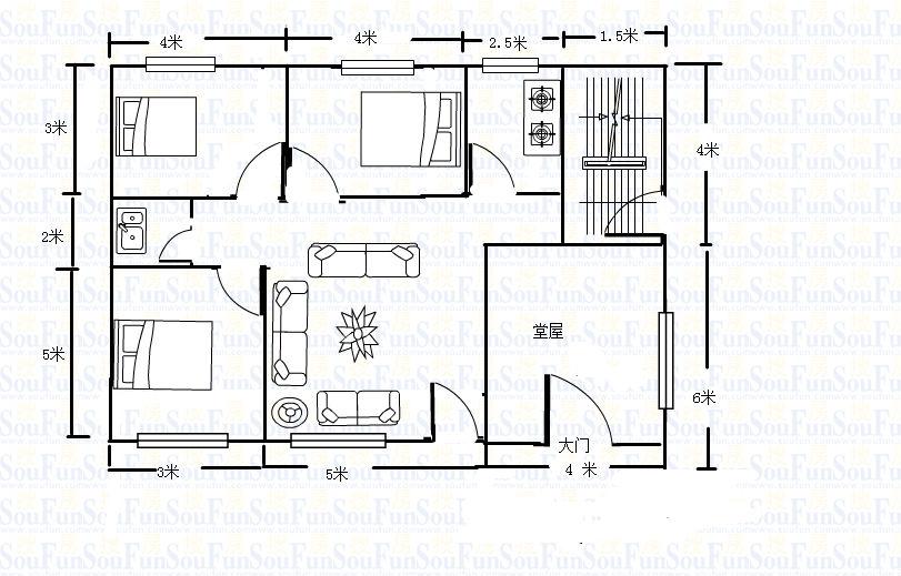 在农村建120平米的房子要花费多少钱 a这图纸是自己设计的,可以用吗