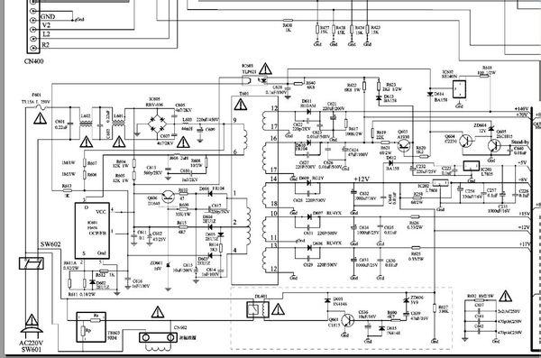 谁有创维25th9000机芯5t21电路图,共享一下