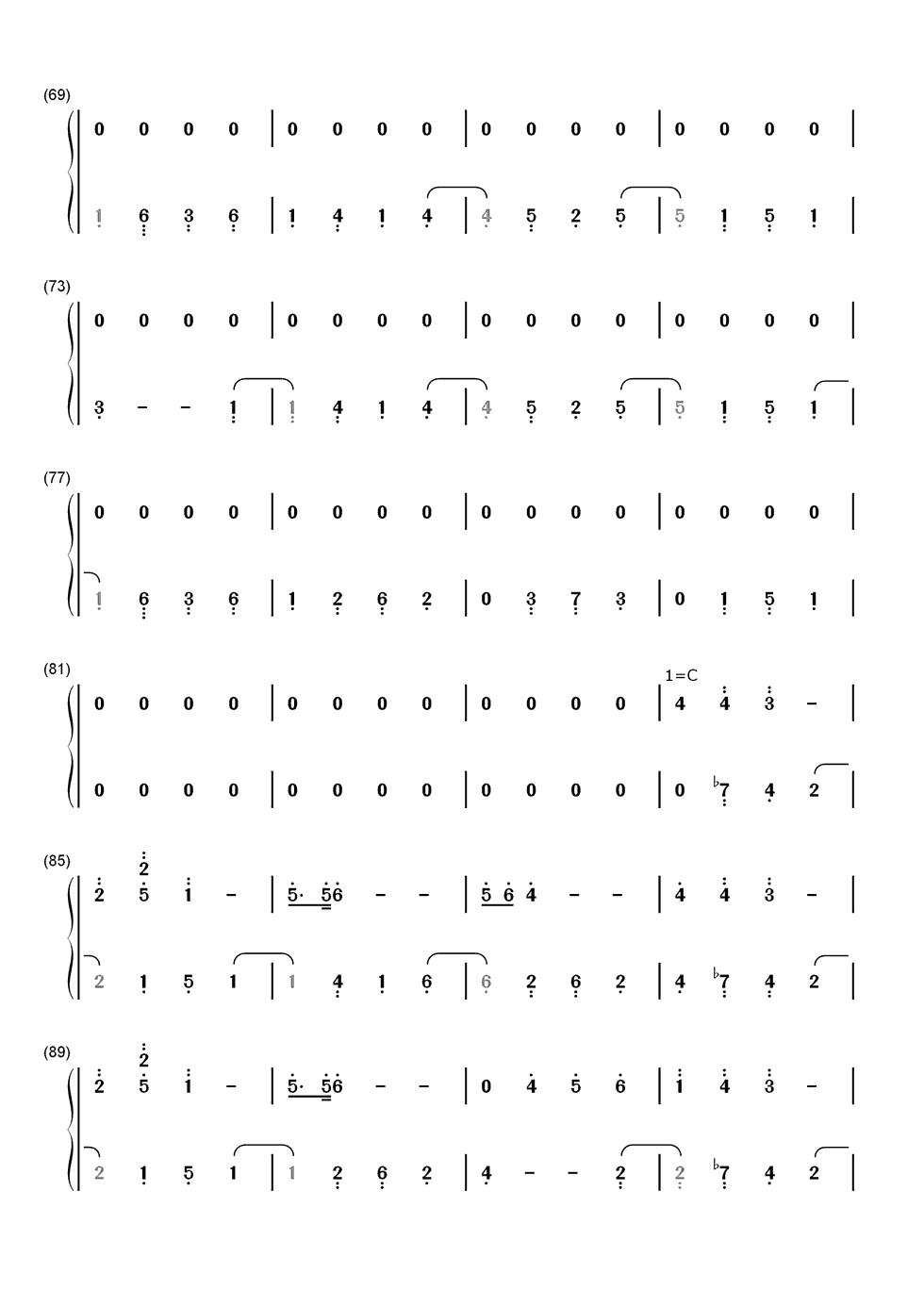 求《忧伤还是快乐》(钢琴名曲)简谱图片