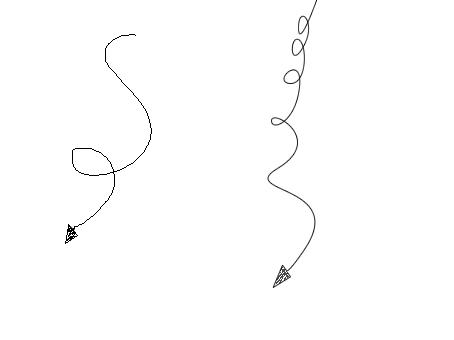 ps里怎么画曲线箭头?类似于涂鸦 如图