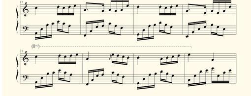 夜的钢琴曲四的键盘钢琴谱