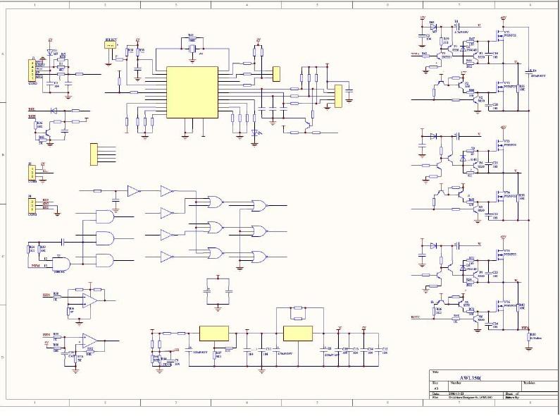 谁有无刷电机的控制器电路图