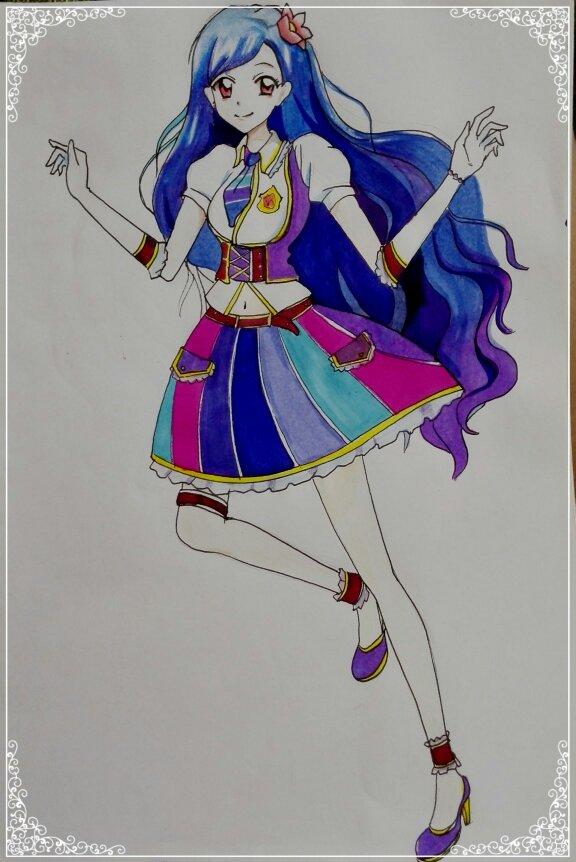 简笔画人物公主手杖