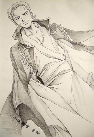 求海贼王索隆手绘图片