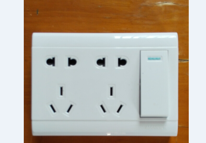 求十孔开关插座的接线图