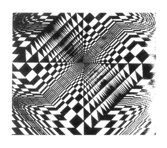 怎样把一张平面的黑白格子的图拉成透视?