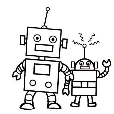 机器人简画图片