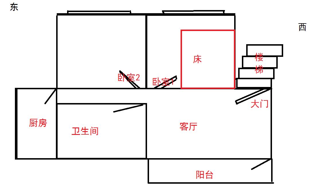 附卧室平面图