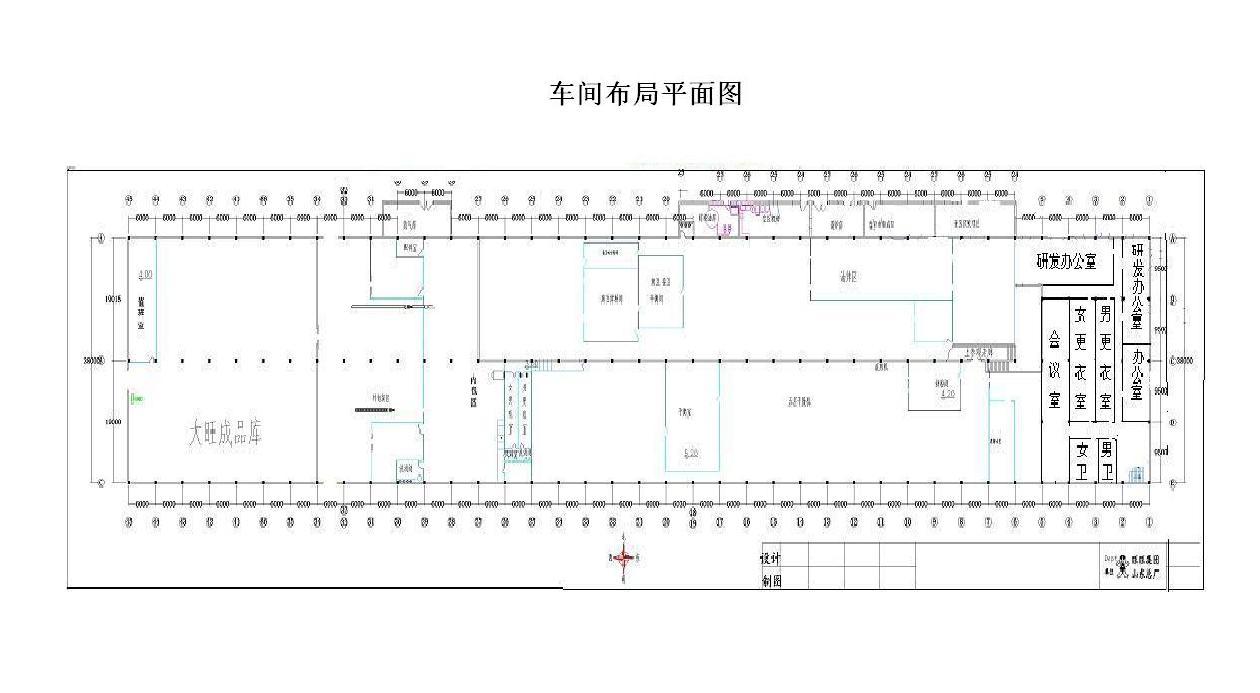 食品厂 平面设计图 办生产许可证要过关 烘烤类 蒸煮类两条生产线 最图片