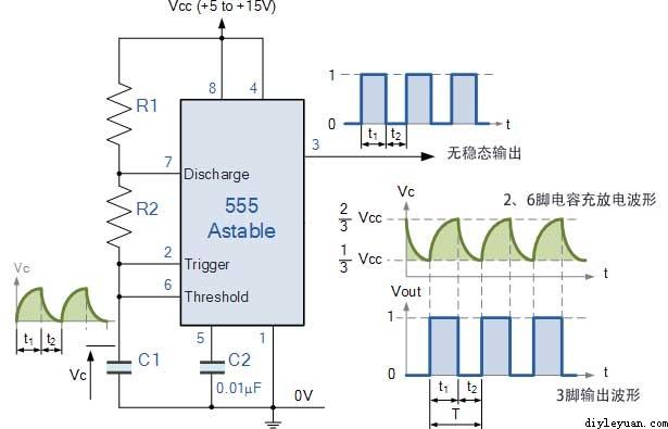 求助:电路中的555集成电路该如何接线? 求大神解答