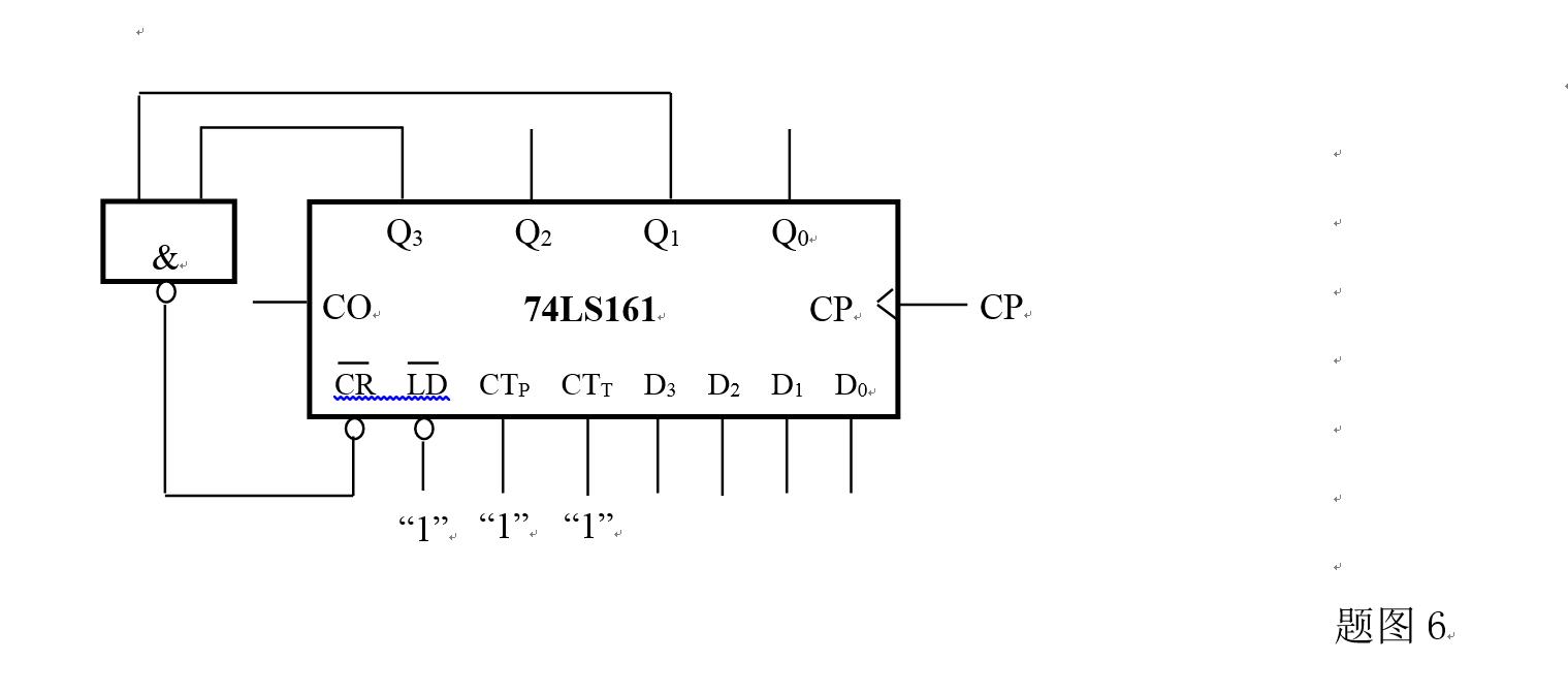 74ls161是同步4位二进制加法计数器,其逻辑功能表如下,试分析下列电路