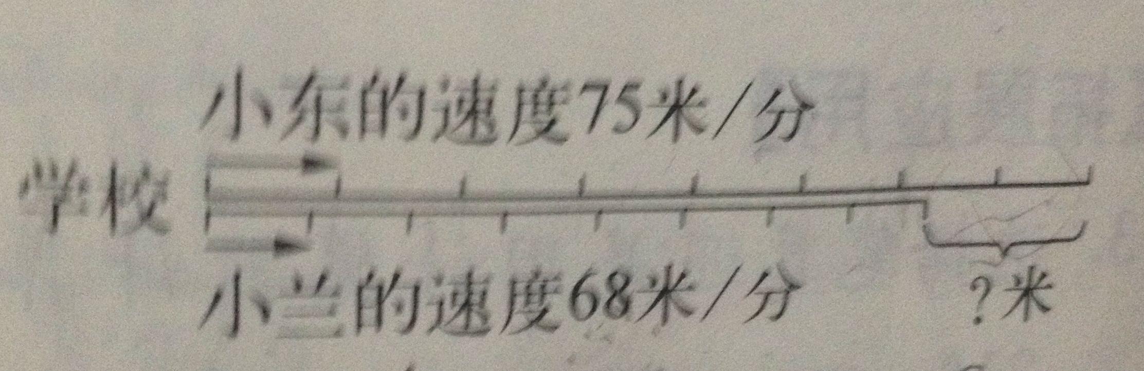 小学数学线段图,求解答急急急!不要用方程式!图片
