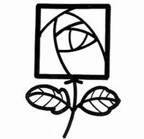 直线玫瑰花怎么画图片