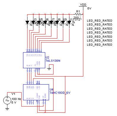 8个led灯 依次循环亮起 求multisim仿真 电路图一定要