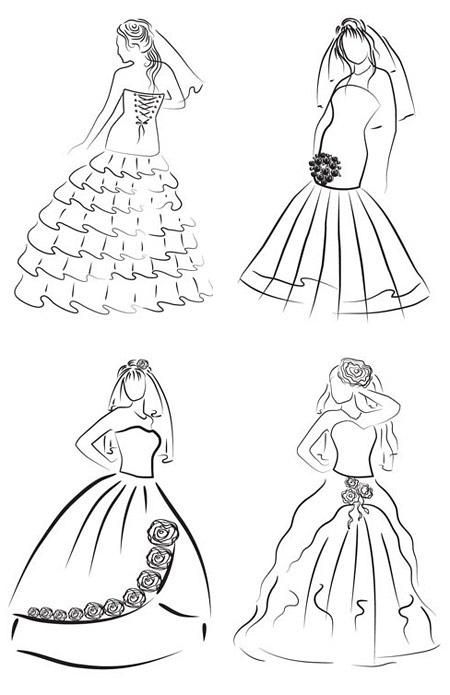 小礼服设计手绘图