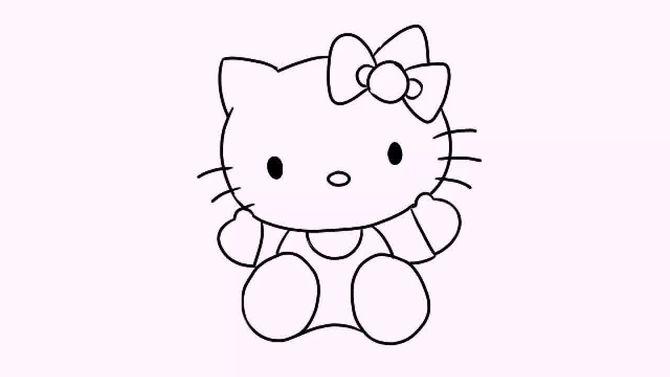 如何画凯蒂猫图片