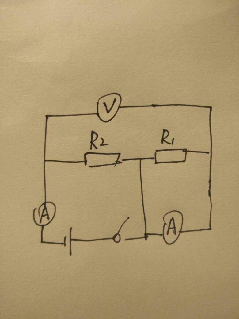 填入正确电表符号,使之成为正确电路图